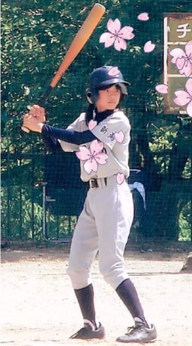 元NGT48で声優の野球好きな長谷川玲奈(中学校時代)