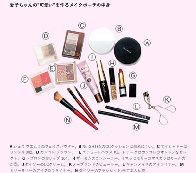 マリア愛子のメイク道具