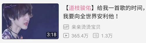 中国人気の道枝駿佑(みっちー)の動画再生回数