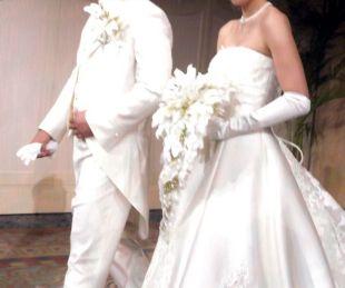 清田育宏と嫁(妻)の結婚式画像