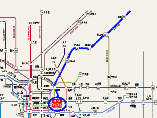 渋谷凪咲が卒業した城星学園のアクセスマップ